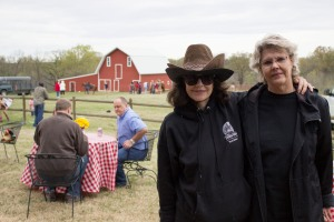 (L-R) American Porphyria Foundation Founder/Executive Director, Desiree Lyon, and Mary Hull at the fundraiser event hosted by Hull Ranch on April 11 near Pawhuska.