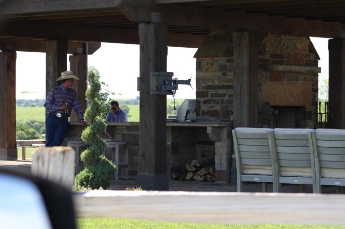 Outdoor kitchen at Z7 Bar Ranch.