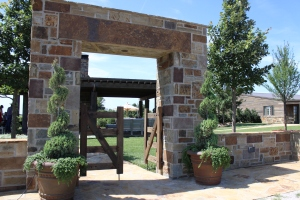 Entryway to outdoor kitchen at Z7 Bar Ranch.