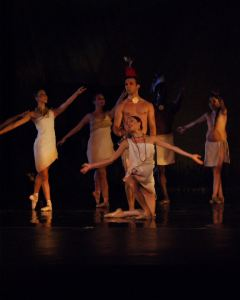Osage Ballet Performs a scene from Wahzhazhe, an Osage Ballet
