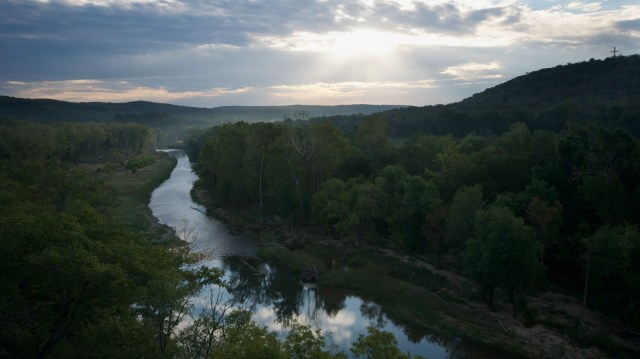 The Illinois River along the J.T. Nickel Family Nature and Wildlife Preserve near Tahlequah, OK. Photo by Mike Fuhr.