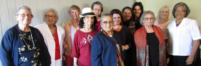 Courtesy Photo by Roseanne McKee. Bartlesville Indian Women's Club held its Installation of Officers luncheon at Montana Mike's on May 14. The club members shown are: back row (L-R):  Rose Carrier, Geraldine Wright, Sharon Armstrong, Sandra Jamison, Paula Pechonick, Annette Ketchum and Mary Kirk; second row (L-R):  Jenny  Hague, Missy Miller, Connie Edwards and Carmen Ketcher; front row:  Joy White.