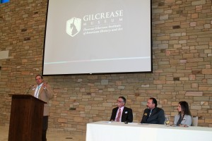 L-R: Harvey Payne from Tallgrass Prairie Preserve, Dr. Joe Conner owner of Fairfax Chief, James Pepper Henry, Exec. Director of Gilcrease Museum and Kaci Fouts, Director of Strategic Planning at Woolaroc